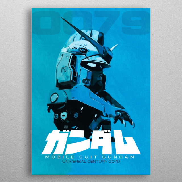 A poster inspired buy the giant mecha..  metal poster