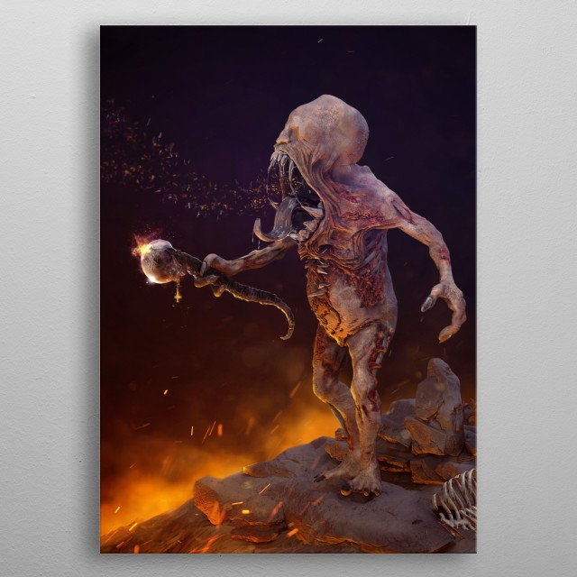 """""""Kaduk"""" in old slavic legend's means a personification of devil.  He had a horde of his slaves which he can send for stolen treasure.  metal poster"""