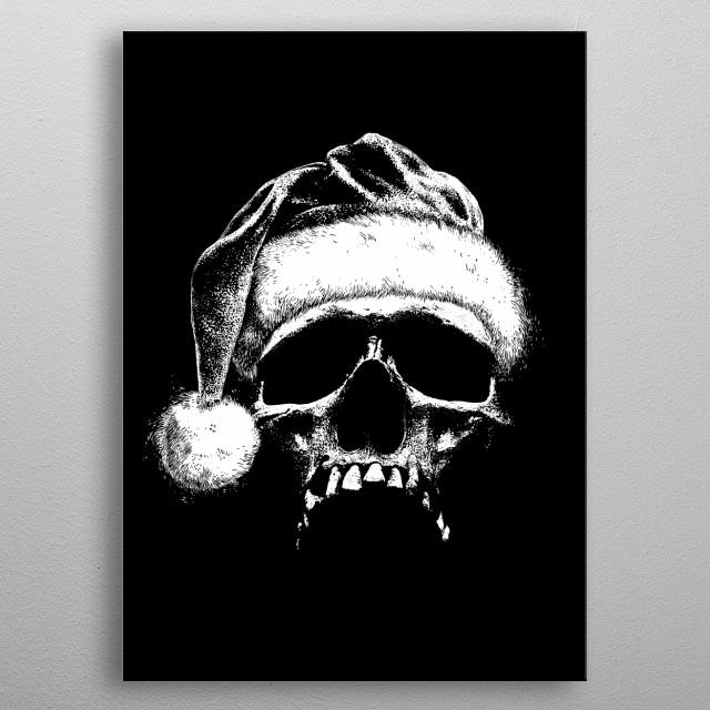 Santa Claus-Skull-Christmas-Humor-Sarcastic metal poster