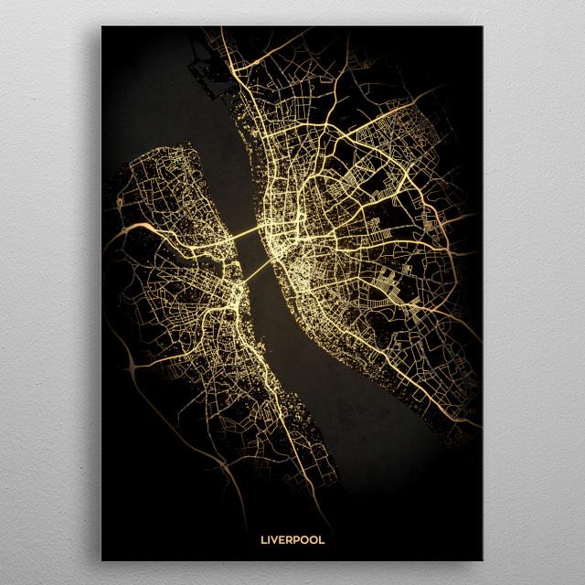 Liverpool, UK metal poster