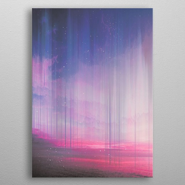 when sky falls down metal poster