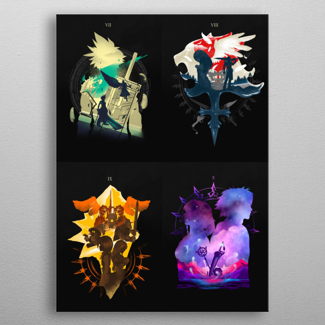 Inspired by Final Fantasy Series that I loved VII, VIII, IX, and X. metal poster