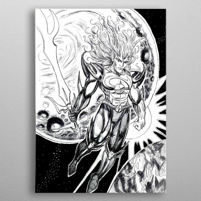 Solar Lord metal poster