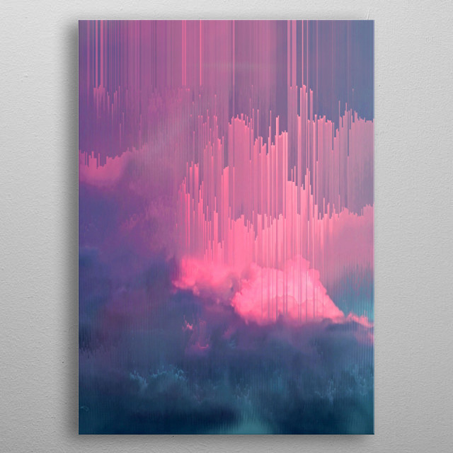 sweet storm gltches metal poster