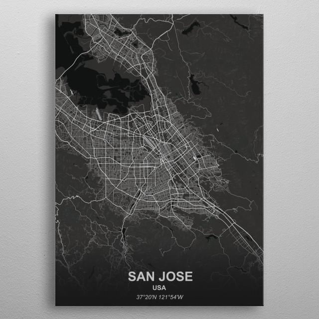SAN JOSE  USA metal poster