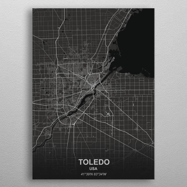 TOLEDO  USA metal poster