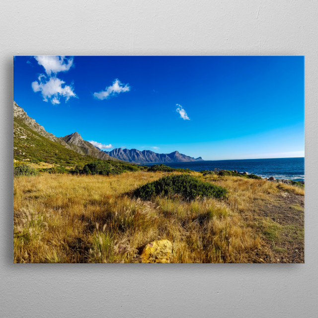 Photography of False Bay near Cape Town, South Africa metal poster