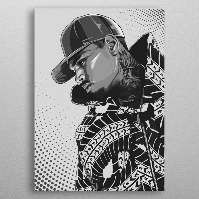 Black and White Poster metal poster
