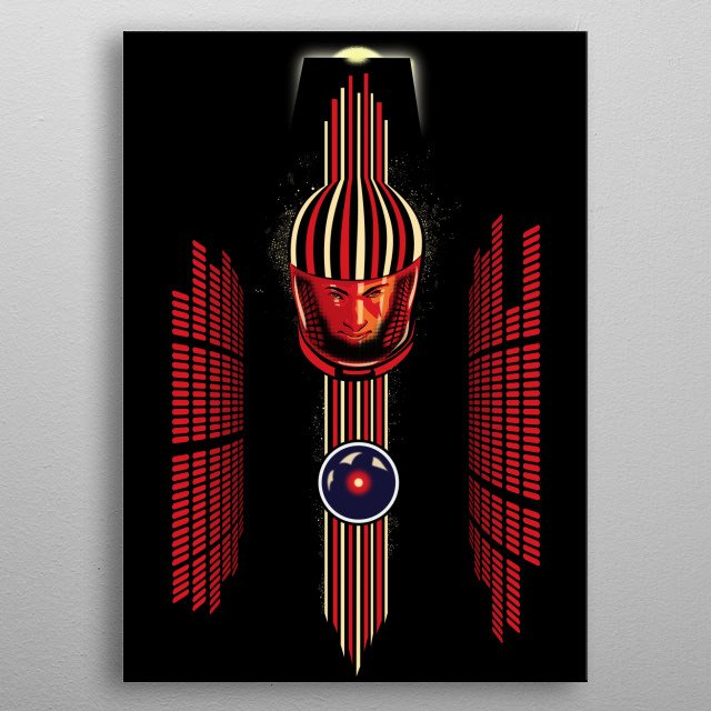 commemorative poster of Space Odyssey and Stanley Kubrick's masterpiece movie. metal poster