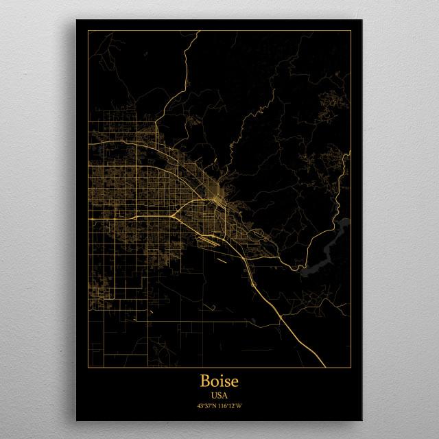 Boise  USA metal poster