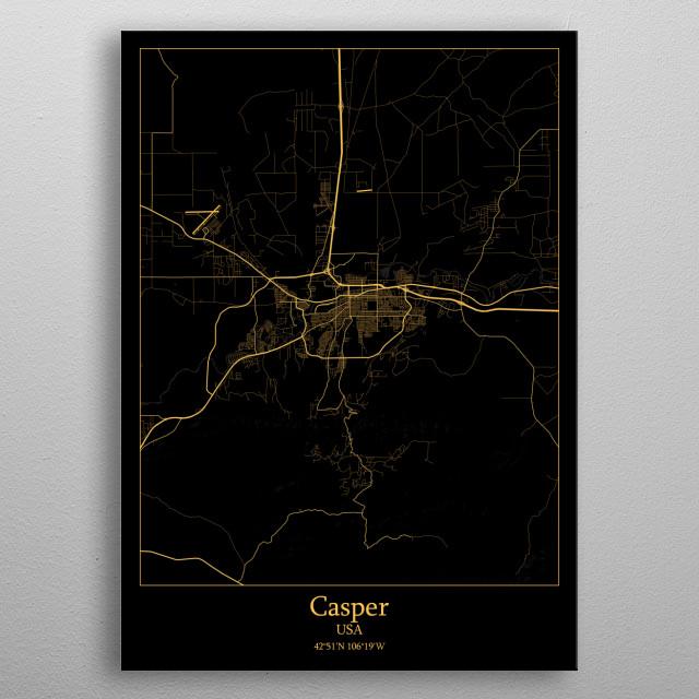 Casper  USA metal poster