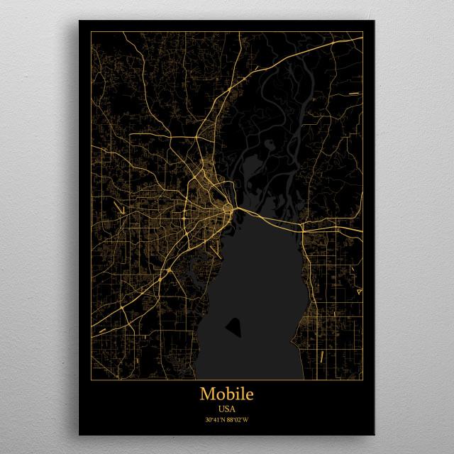Mobile  USA metal poster