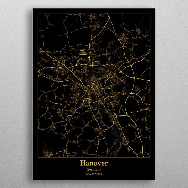 Hanover  Germany metal poster