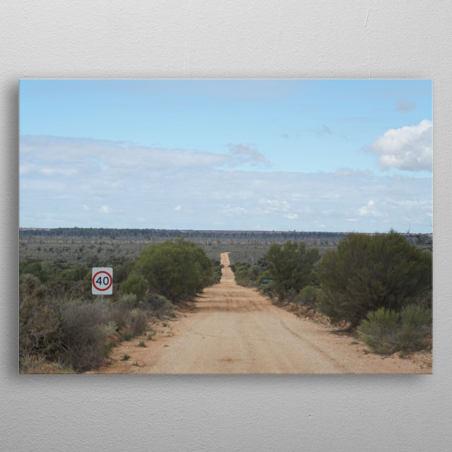 Outback Australia in Victoria metal poster