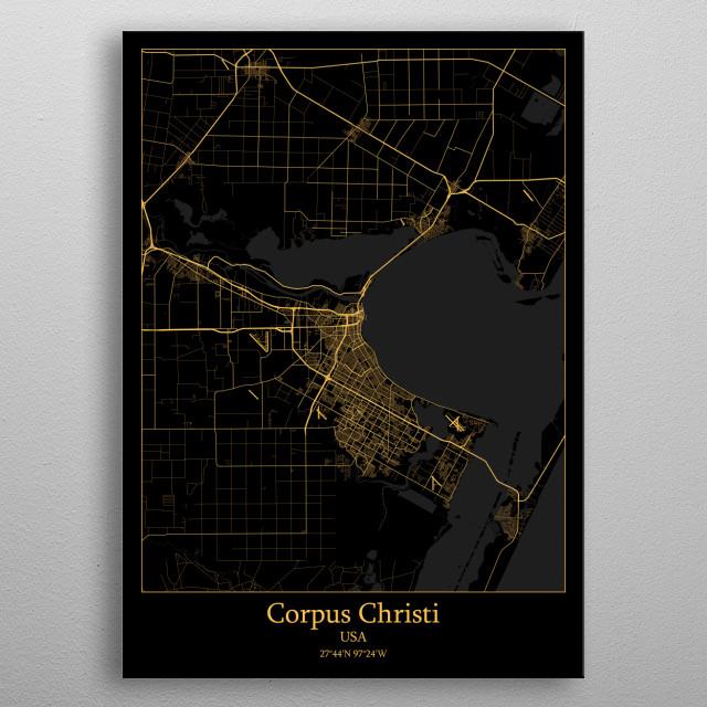 Corpus Christi  USA metal poster