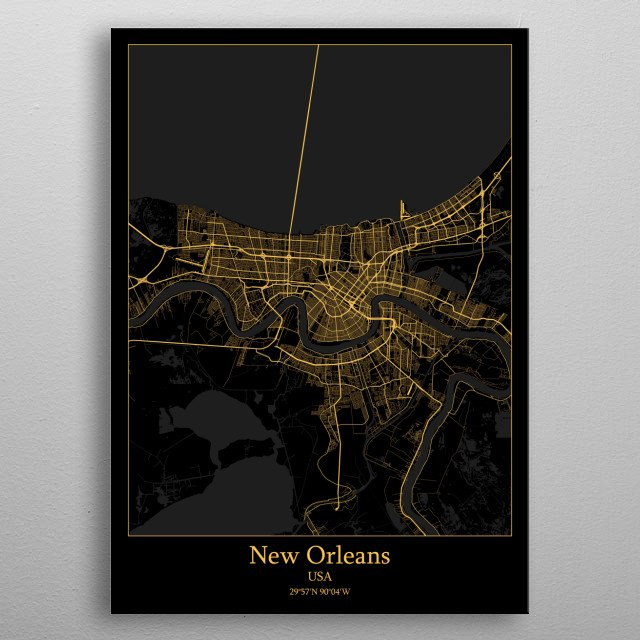 New Orleans  USA metal poster