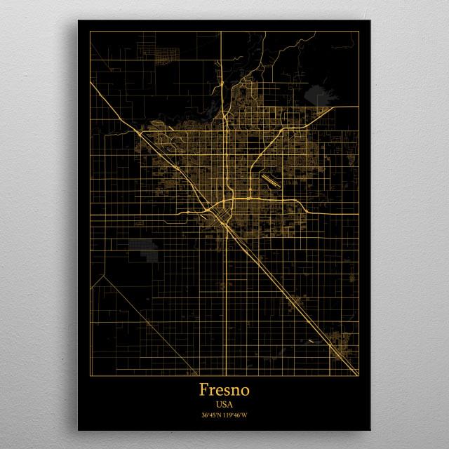 Fresno  USA metal poster