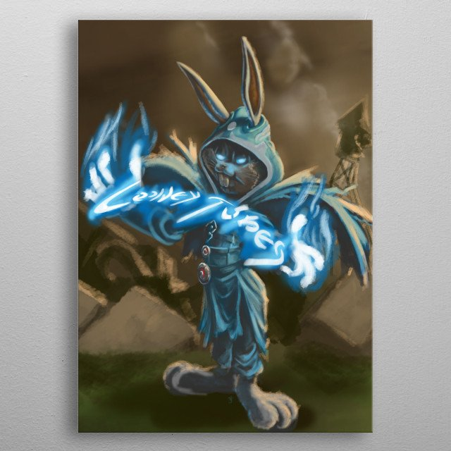 The aftermath of when Jace Bunny has unleashed his spark. metal poster