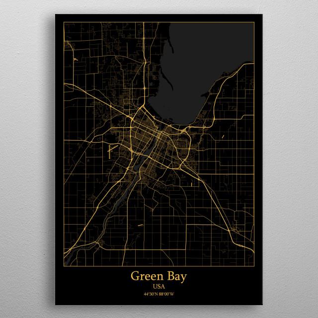 Green Bay  USA metal poster