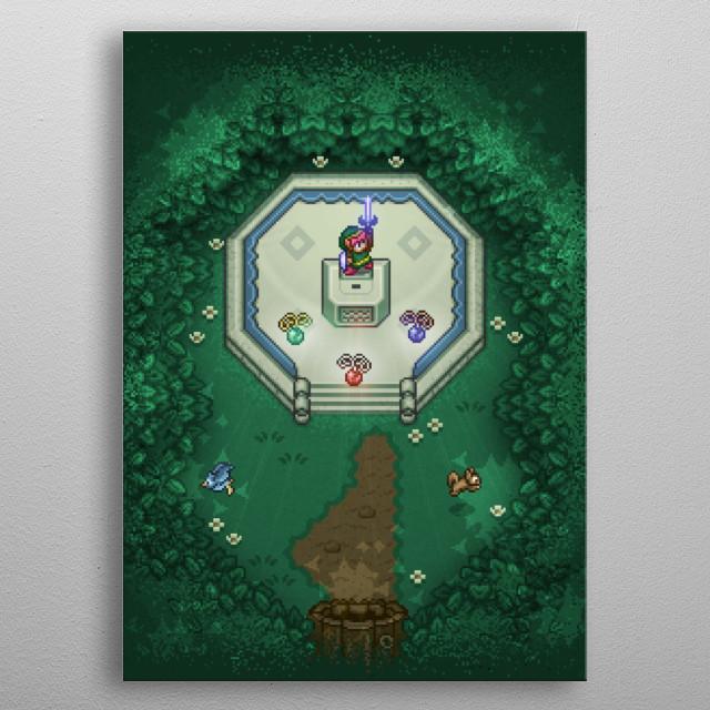 Zelda Mastersword by Likelikes metal poster