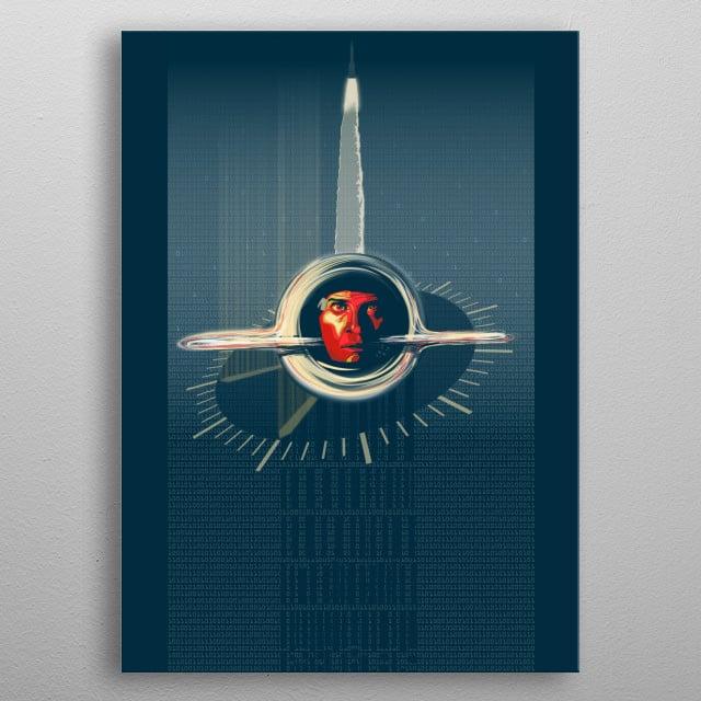 Alternate Movie Poster Interstellar by Sassan Filsoof metal poster