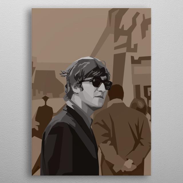 John Lennon Wpap Pop Art metal poster