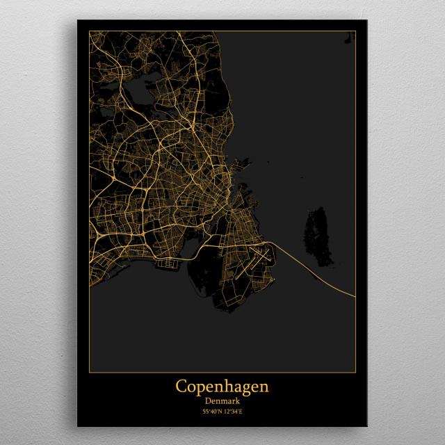 Copenhagen  Denmark metal poster