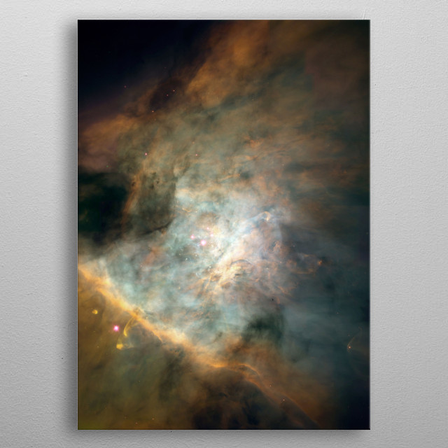 A nebula is an interstellar cloud of dust, hydrogen, helium and other ionized gases. metal poster