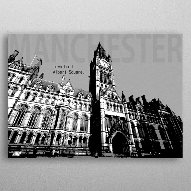 Manchester Town Hall metal poster