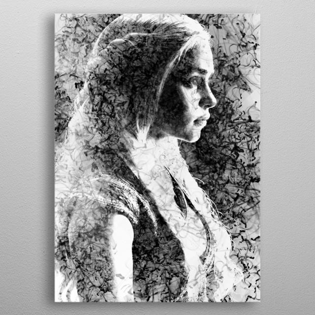 Digital painting inspired in the Game of Thrones saga. metal poster