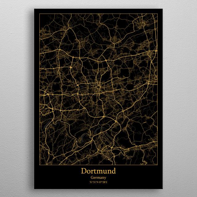 Dortmund  Germany metal poster