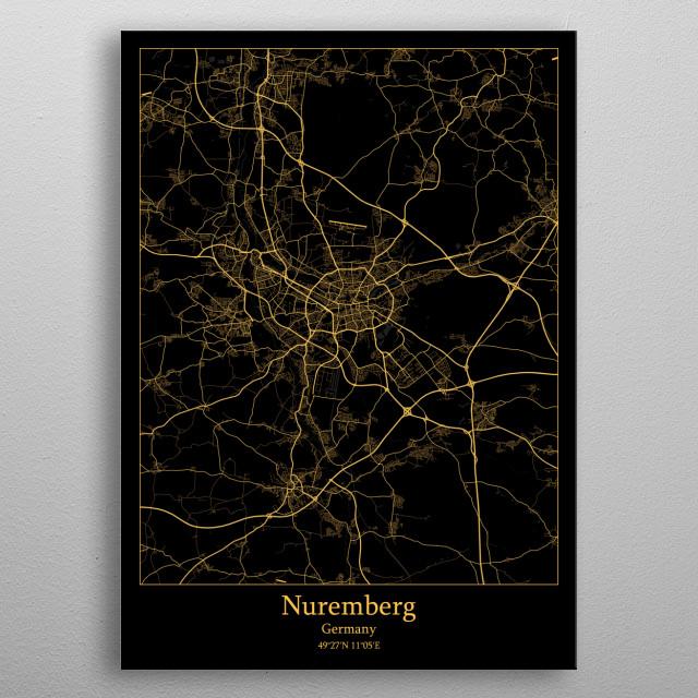Nuremberg  Germany metal poster