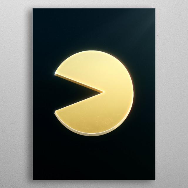 Pacman emblem metal poster