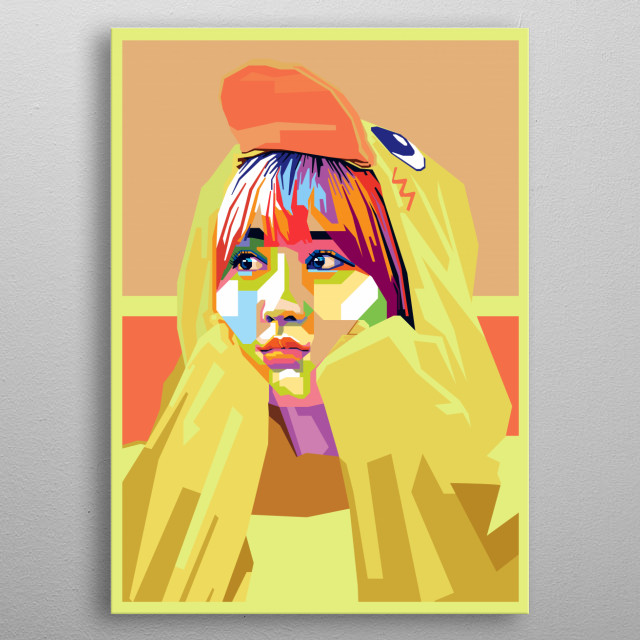 Twice Momo in WPAP Art metal poster