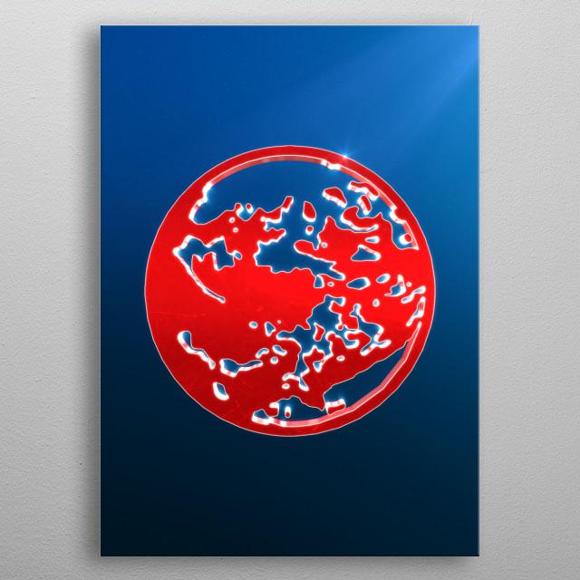 Earthbound emblem metal poster