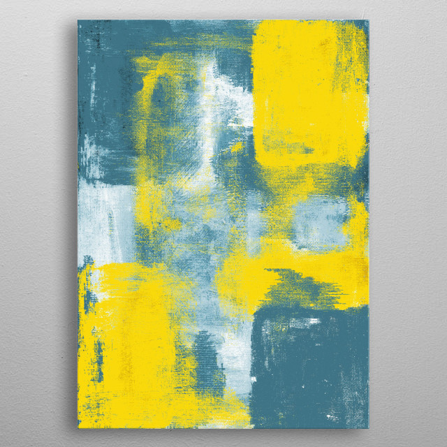 Abstract expressionist painting by Ron Trickett metal poster