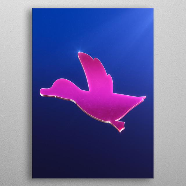 Duck Hunt emblem metal poster