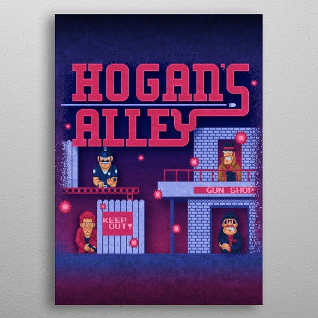 Alley Hogans by Likelikes metal poster