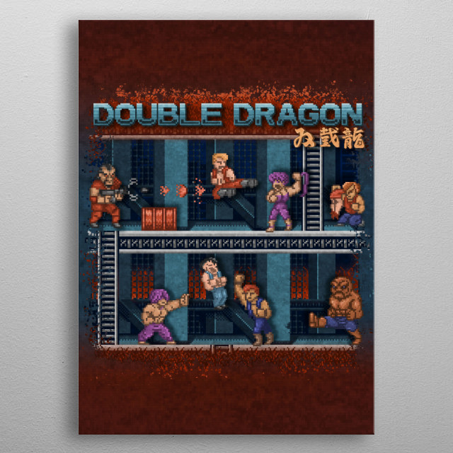 Dragon Double by Likelikes metal poster