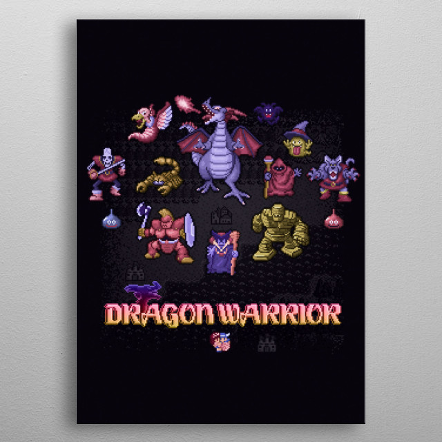 Warrior Dragon by Likelikes metal poster