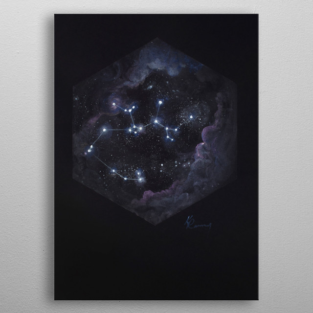 Sagittarius is the largest constellation in the Southern Hemisphere and the 15th largest constellation overall. metal poster