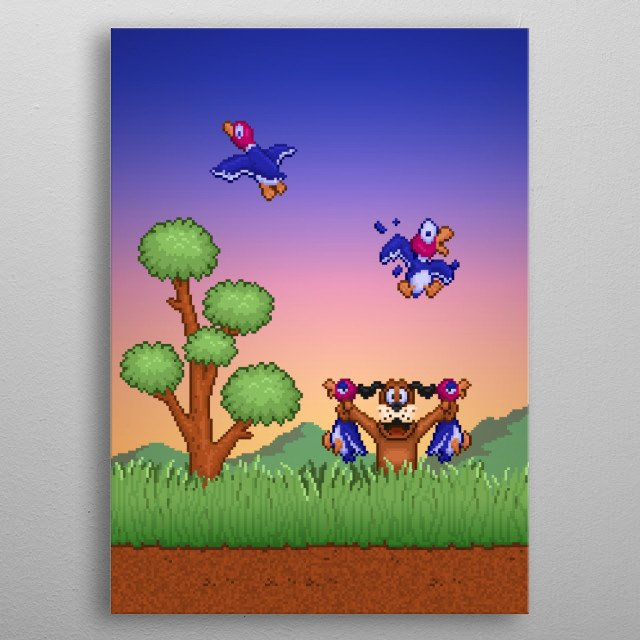 Hunt Duck by Likelikes metal poster