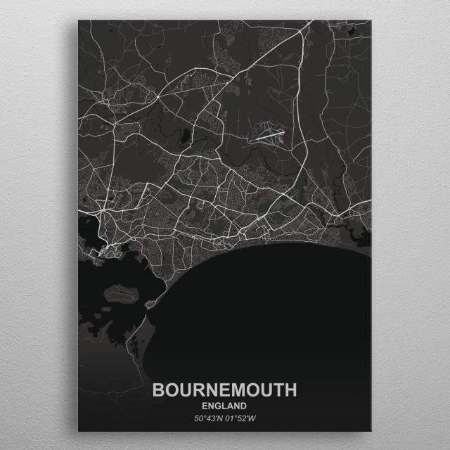 BOURNEMOUTH  ENGLAND metal poster