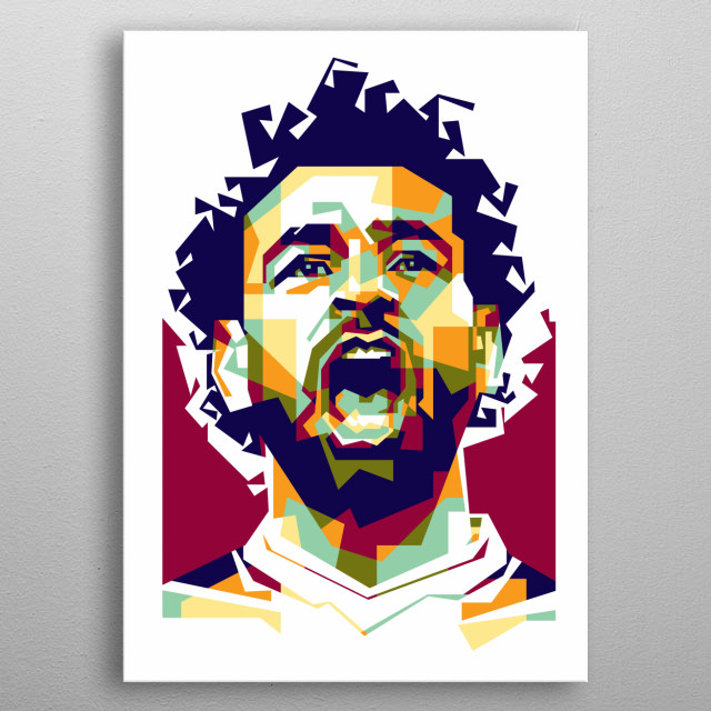 is an Egyptian professional footballer who plays as a forward for Premier League club Liverpool and the Egypt national team metal poster