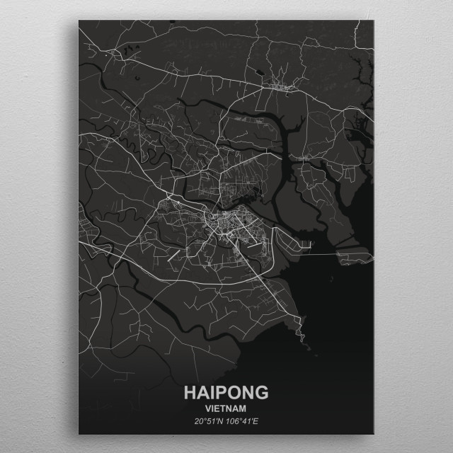 HAIPONG  VIETNAM metal poster