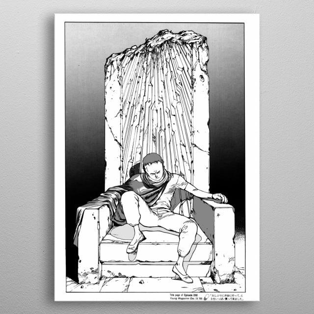 High resolution digital drawing of AKIIRA episode 090 manga book cover replica metal poster