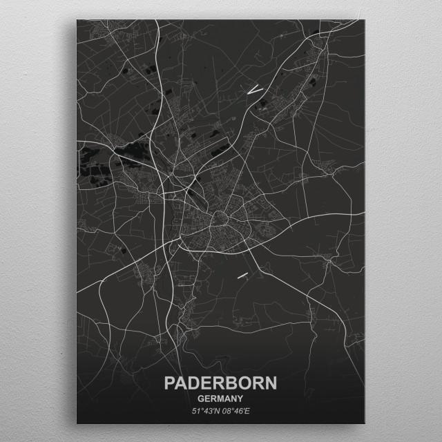 PADERBORN  GERMANY metal poster