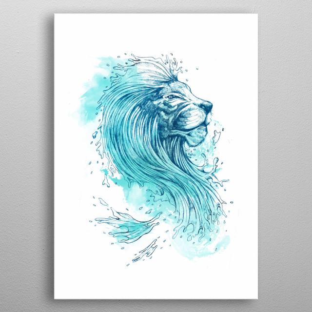 Sea Lion metal poster