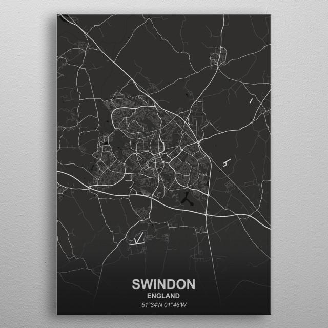 SWINDON  ENGLAND metal poster