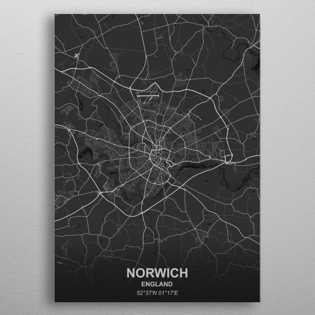 NORWICH  ENGLAND metal poster
